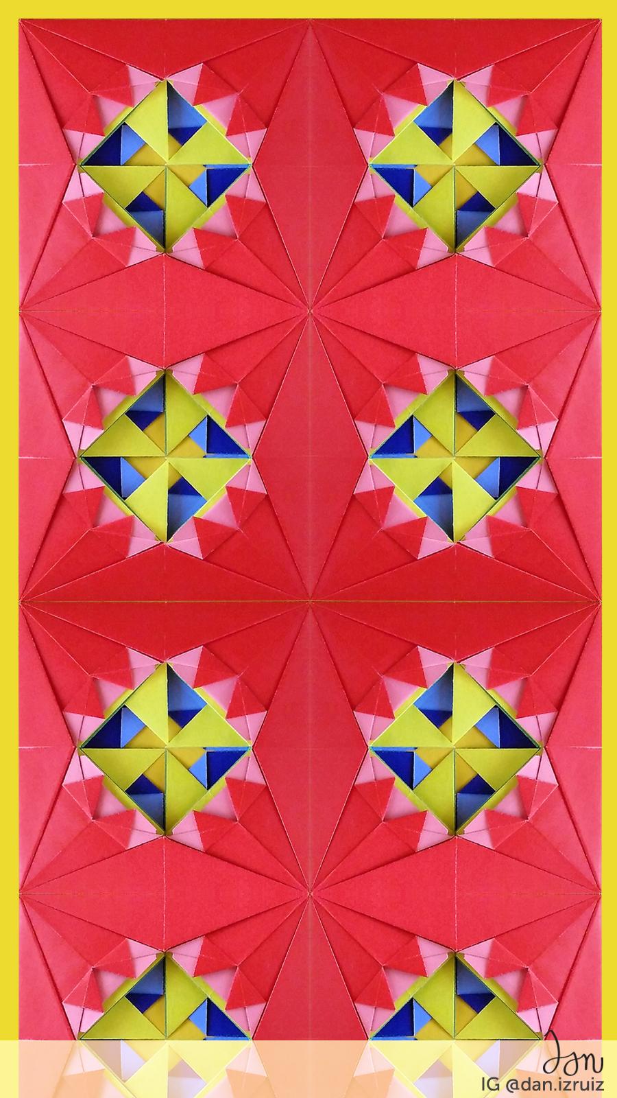Free origami phone wallpaper